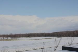 知床だけ雪