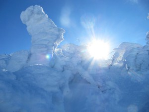 3山頂樹氷