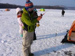 網走湖のワカサギ