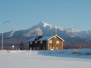 斜里岳と風景画