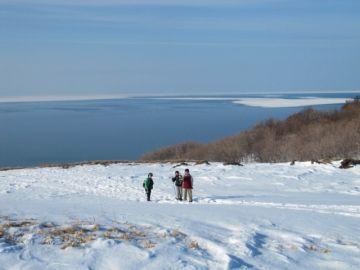 オホーツク海に広がる流氷が最後に待っています。